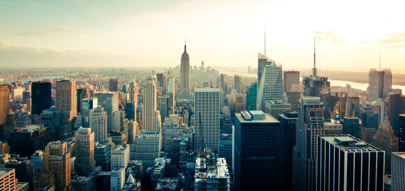fly til new york direkte